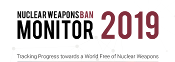 Cover page of the 2019 Nuclear Weapons Ban Monitor report