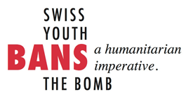 Swiss Youth Bans the Bomb logo